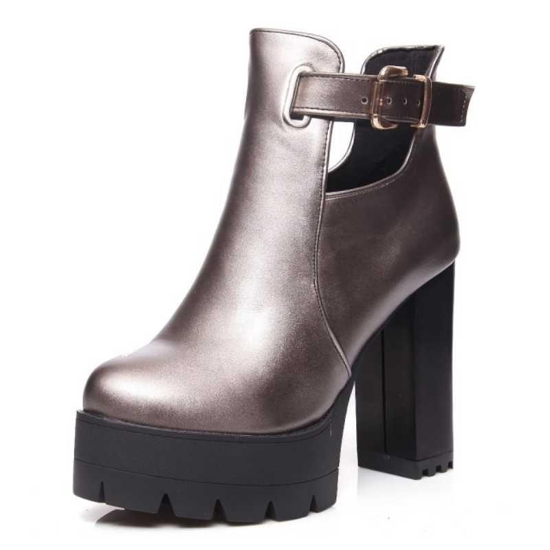 automne bottes talon plateforme hiver femme Chaussures avec plateforme plus unique mode casual femme,rose,39