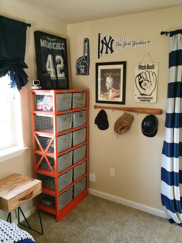 Cool boys baseball themed bedroom ideas
