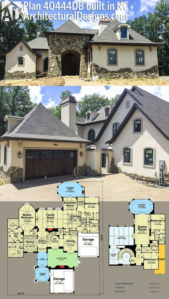 Plan 40444db Exceptional French Country Manor V Roku 2019