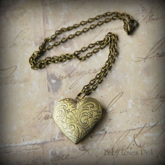 Heart Locket Necklace   Romantic bronze keepsake by BabyLovesPink, $18.95