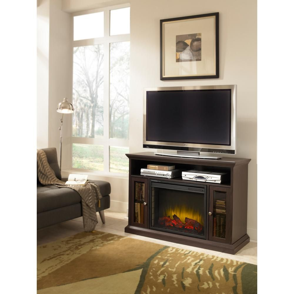 pleasant hearth riley 47 in electric fireplace tv stand media rh pinterest ca