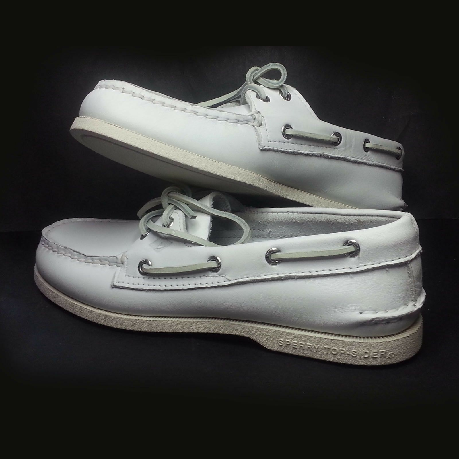 Sale Men Fashion Sperry Top Sider Men Size 7 5 White Leather