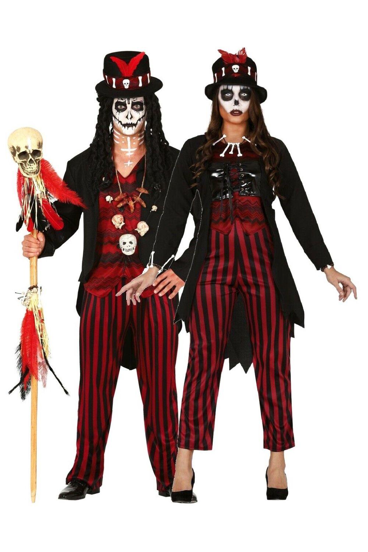 Pair Ladies Mens Voodoo Creepy Horror Halloween Costume Set Ebay In 2020 Voodoo Fancy Dress Fancy Dress Halloween Costumes Halloween Fancy Dress Outfits