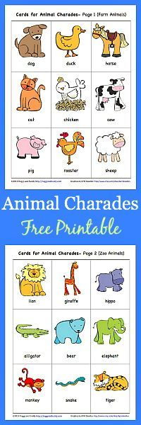 Animal Charades For Kids Free Printable Farm Preschool