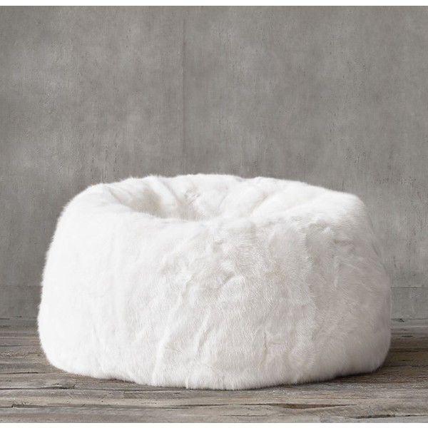 Ultra Faux Fur Bean Bag White 249 Liked On Polyvore