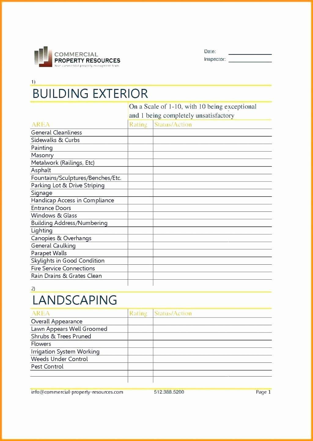 Building Maintenance Schedule Template New Building Maintenance Checklist Format Maintenance Checklist Building Maintenance Schedule Template