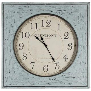 Add A Vintage Flair To Your Home By Installing This Beautiful Distressed Blue Square Metal Wall Clock From Pinnacle