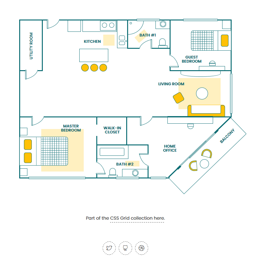 Css Grid Floor Plan Pure Css Demo Coding Fribly Floor Plans Css Grid How To Plan