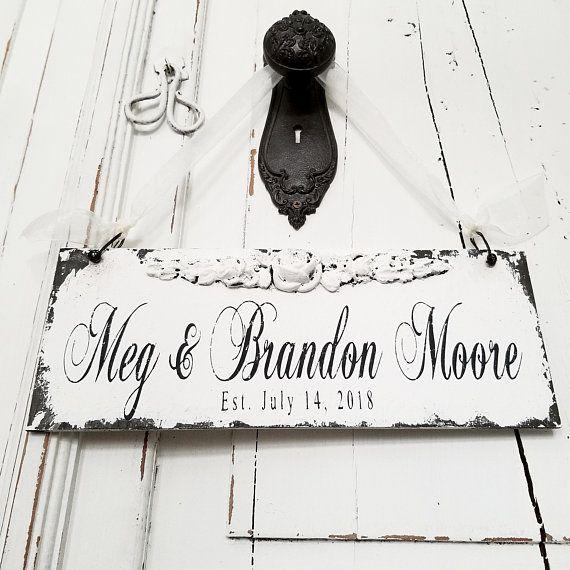 ESTABLISHED Sign | Custom Name Sign | Mr and Mrs Wedding Sign ...
