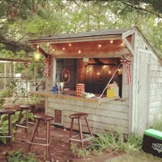Man Cave Ideas Shed : Forget man caves backyard bar sheds are the new trend