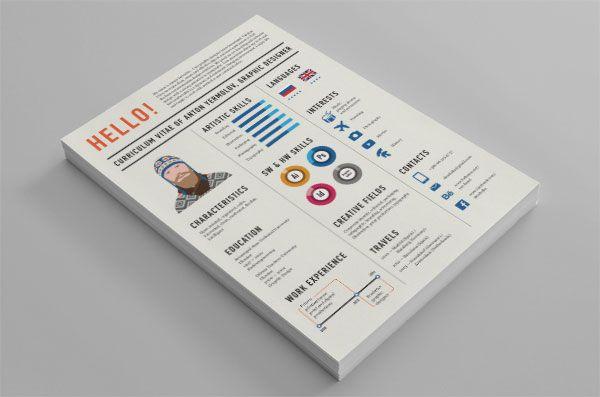 Curriculum Vitae from Anton Yermolov graphic design Pinterest