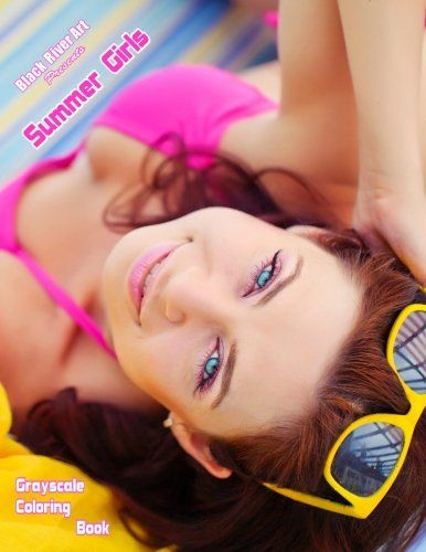 Summer Girls Grayscale Coloring Book By Karlon Douglas Amazon