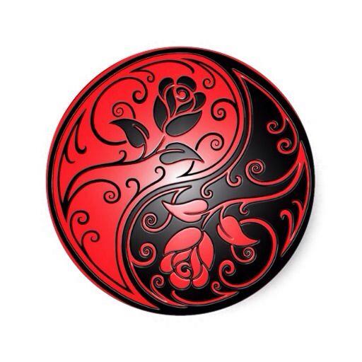 Black and Red Ying Yang Roses in 2019 | Yin yang tattoos, Yin yang, Yin yang designs