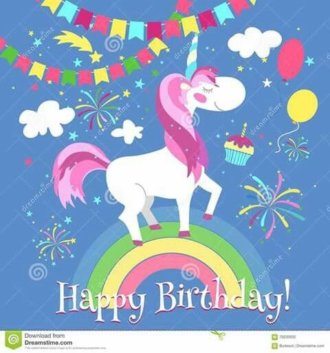 Pin By Bethany W On Birthday Unicorn Birthday Cards Happy