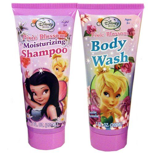 ($11.99) Disney TinkerBell Fairies Body Wash U0026 Moisturizing Shampoo Bath Set    Pixie Blossom