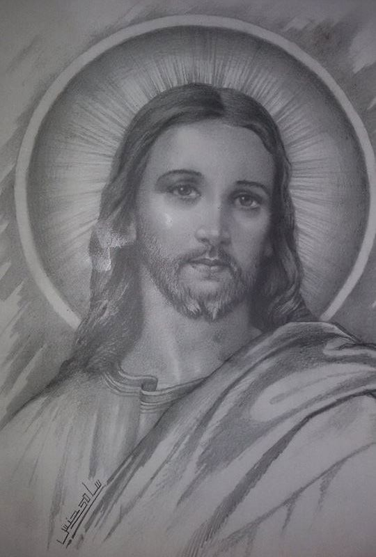 how to draw lord jesus
