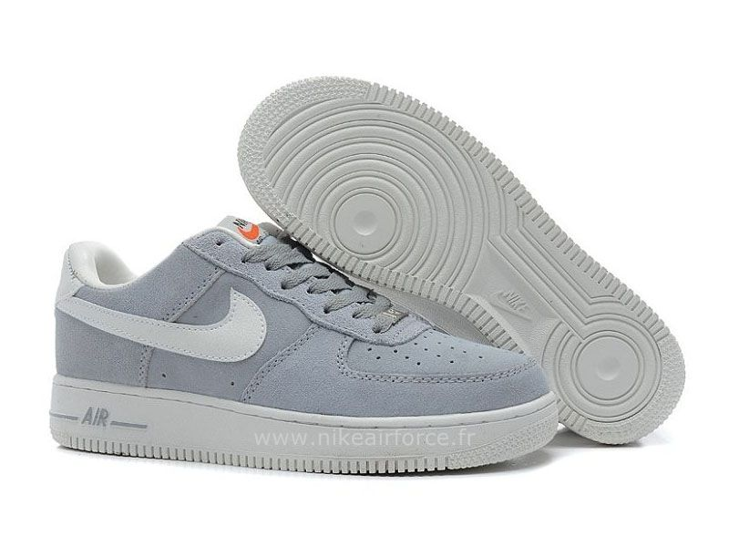 newest collection 6c03e 6b6a6 Nike Air Force 1 Basse Suede Loup Gris Voilet Chaussure pour Homme Basket  Nike Air Force 1