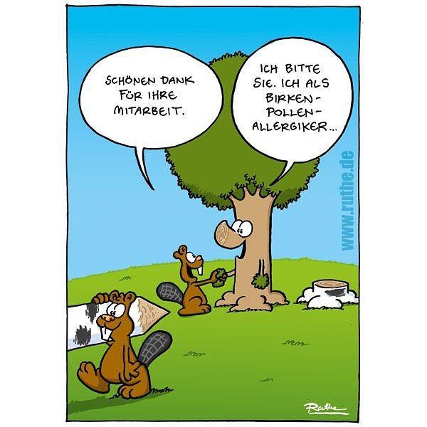 Ruthe cartoon fr hling pollen allergie by ruthe - Baum comic bilder ...
