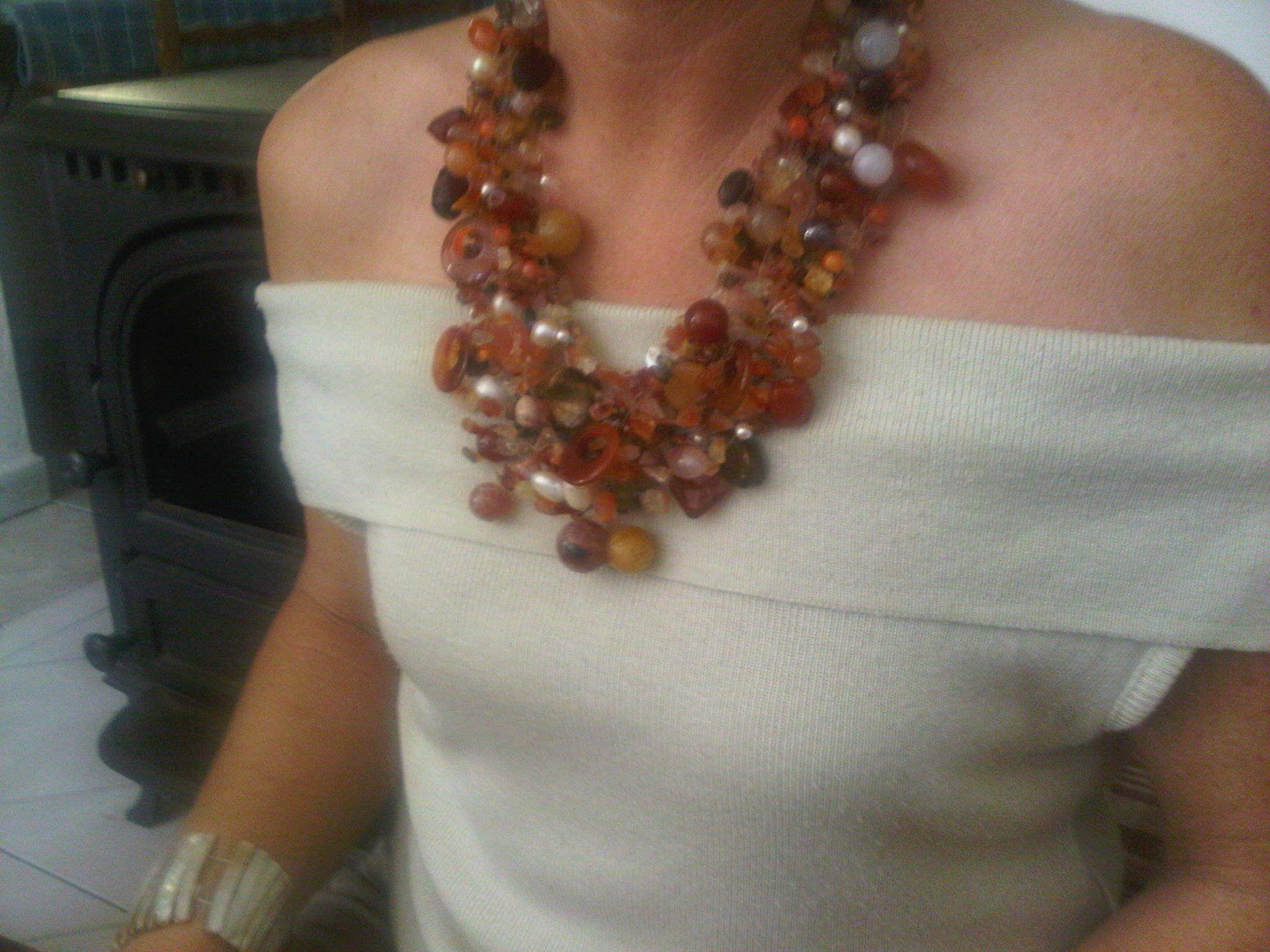 Molto collana in pietre dure e perle di fiume | Collane | Pinterest BW55