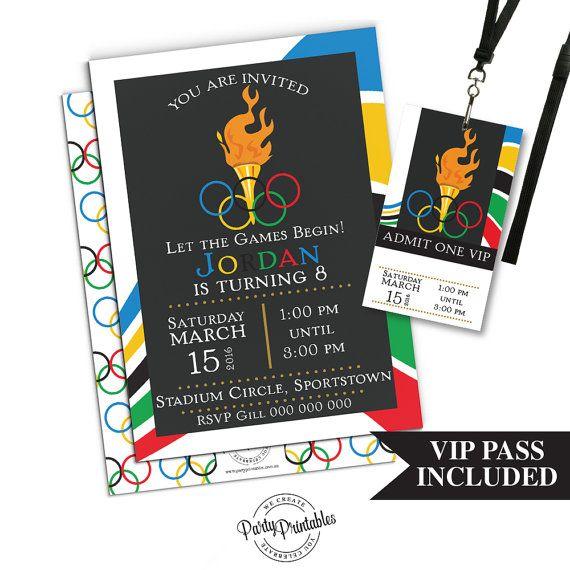 Olympic party invitation olympic party invitation printable olympic party invitation with vip pass by partyprintablesaust stopboris Choice Image