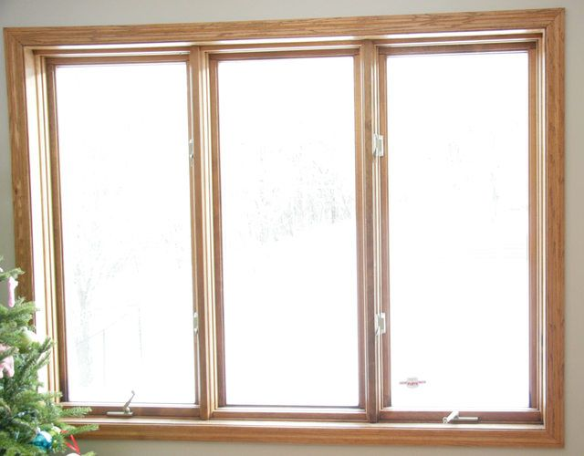 Vinyl Windows and Wood Trim TexAgs White windows with wood