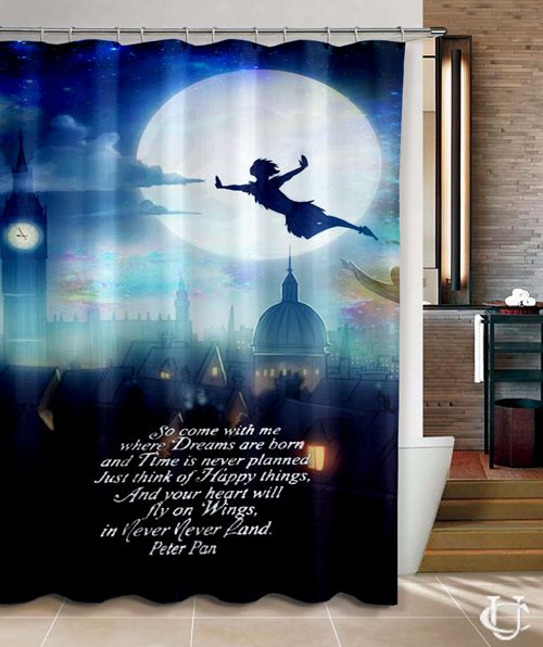 Peter Pan Quote Disney Movie Shower Curtain