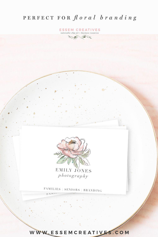 garden floral watercolor invitation borders papers clipart essem rh pinterest com