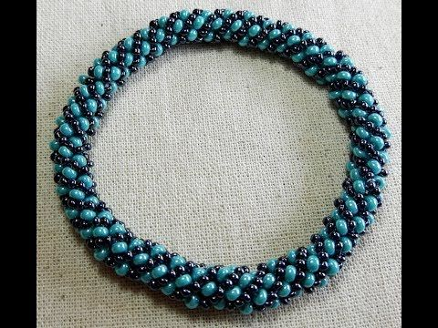 BEADED RUSSIAN SPIRAL STITCH BRACELET!!!