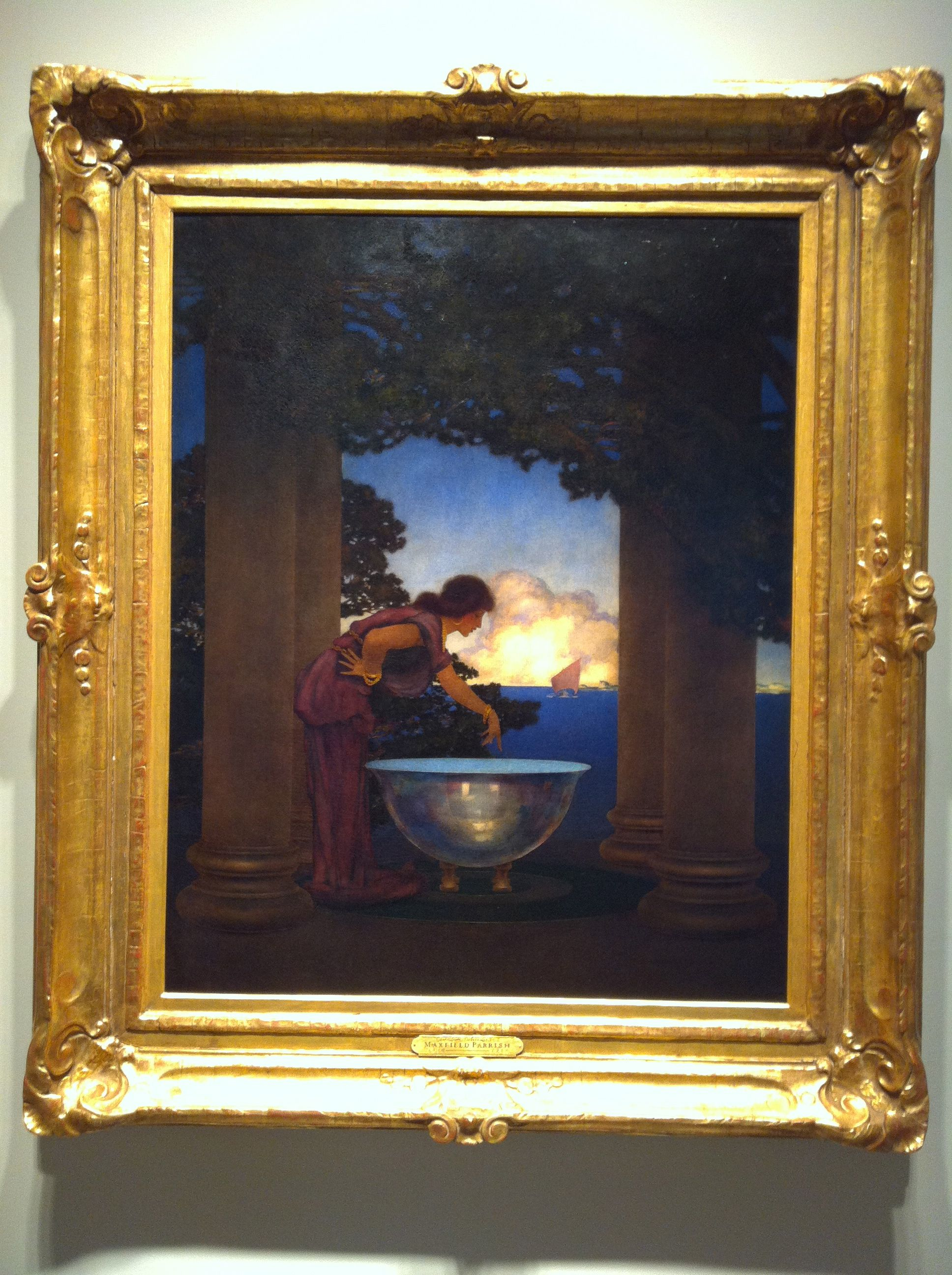 A Maxfield Parrish painting at a NYC art gallery. Price tag? A cool ...