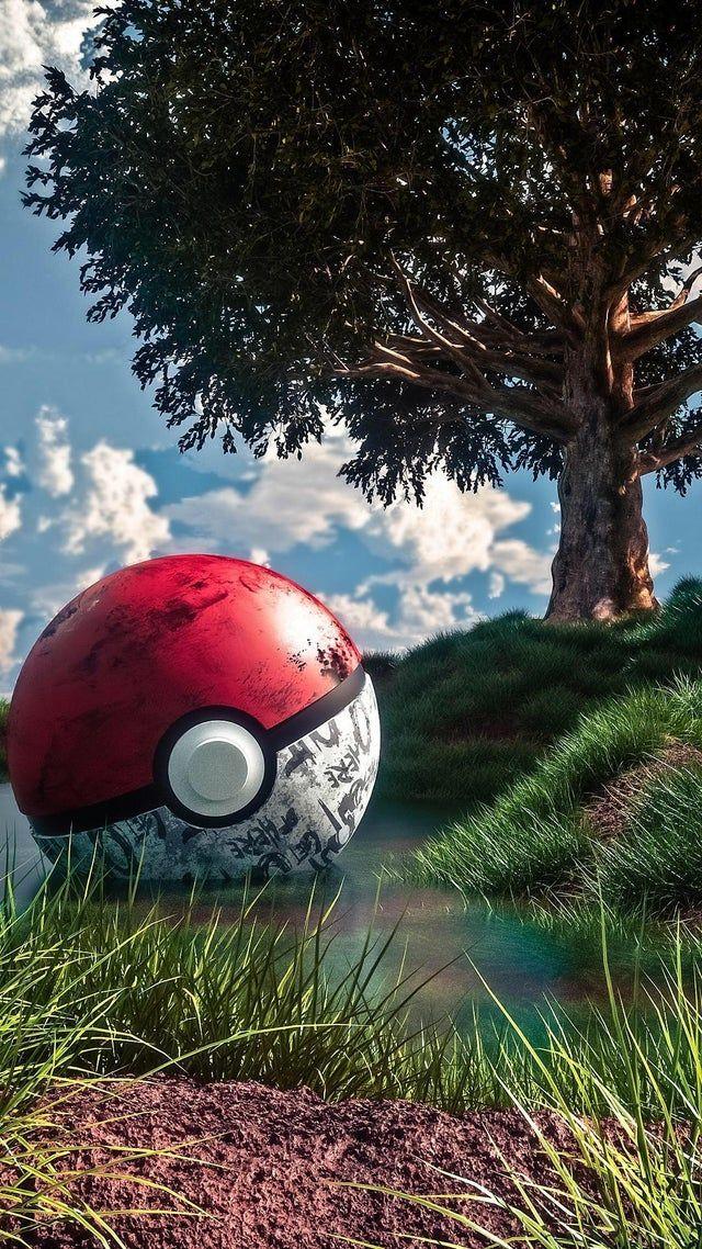 Poké Ball iWallpaper in 2020 Cute pokemon wallpaper