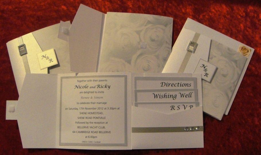 Vintage Silver Rose Wedding Invitations Vintage Silver