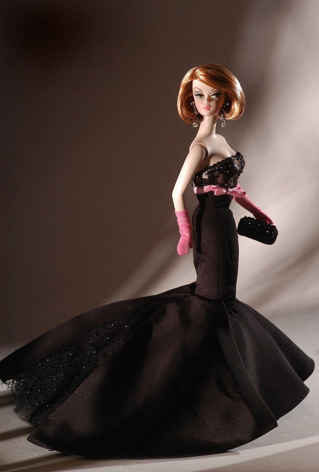 Barbie in Black dress