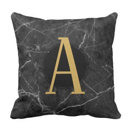 grey marble monogram add letter initials custom throw pillow rh pinterest com