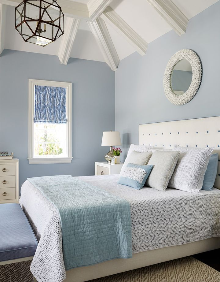 blue and white bedroom Andrew Howard