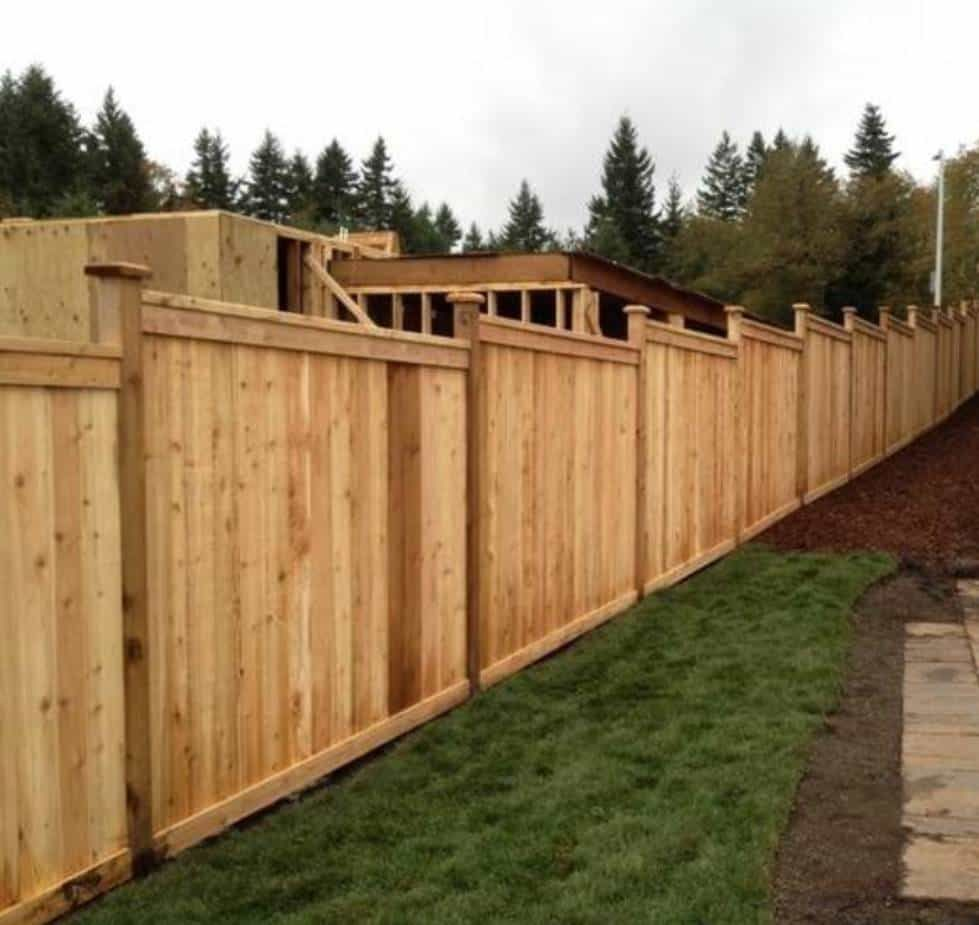 Landscaping And Outdoor Building Outdoor Timber Fences Stepped