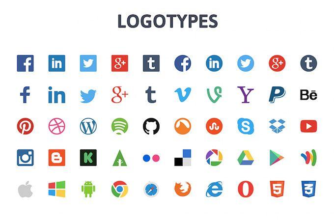 50 Vector Logotypes Libre De Vectores Redes Sociales Logotypes