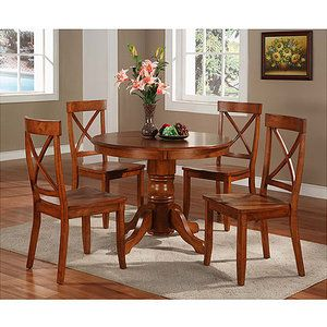 home styles pedestal dining table cottage oak walmart doesn t rh pinterest com