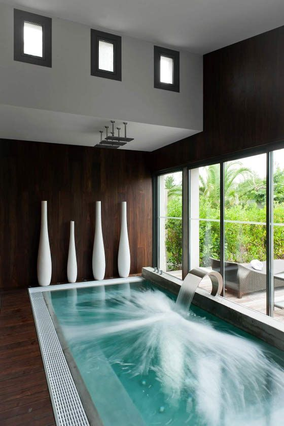 Your Relaxation Oasis: 40 Home Spa Bathroom Designs   DigsDigs ... on small bathroom pool, indoor outdoor shower, toilet pool,