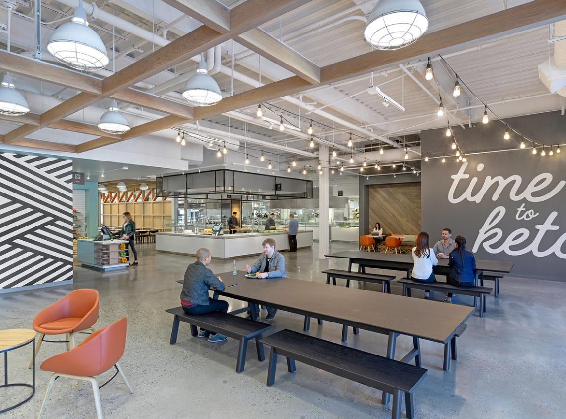 picnic office design. Office Interiors, San Jose California, Ideas, Designs, Concrete Floors, Floor Coatings, Commercial Design, Picnic Tables Design T