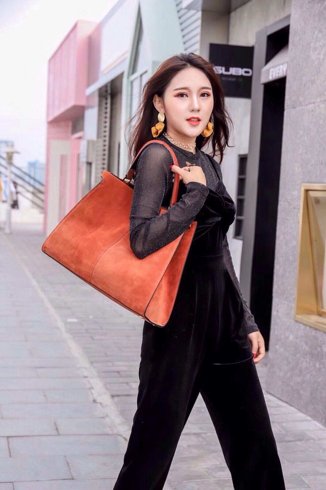 a335c8593f5 Fendi Peekaboo X-Lite Bag orange | Fendi purse and bags in 2019 ...