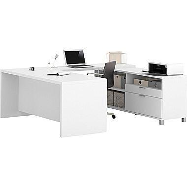bestar pro linea u desk in white office faves rh ar pinterest com