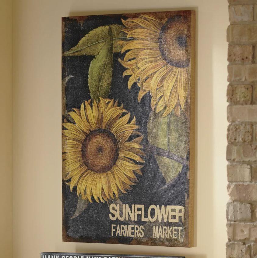 Sunflower Wall Art Decor Kitchen