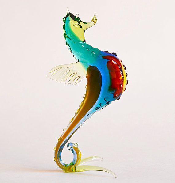 Glass Sea Horse Figurine Glass Seahorse Figurine by artexport, $18.99