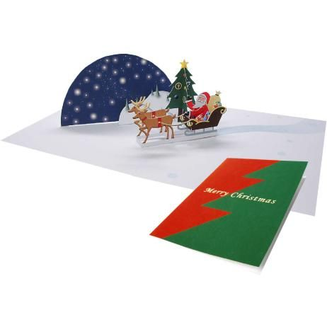 Pop Up Card Santa Claus Christmas Craft Cards Card Canon Creative Park Christmas Card Pictures Christmas Cards Christmas Card Crafts