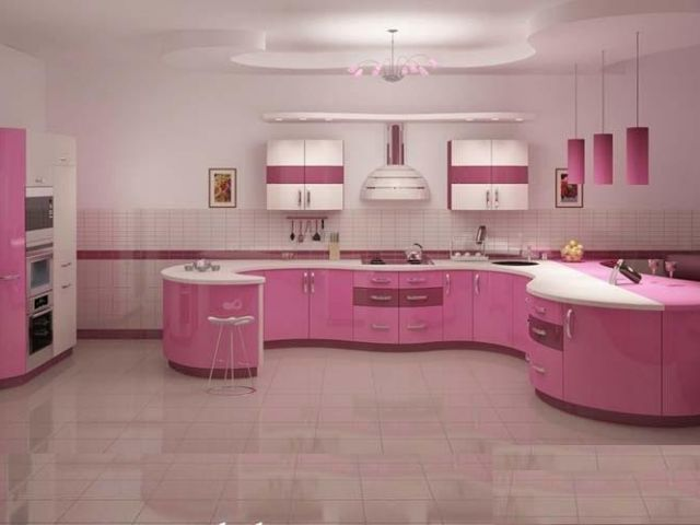 More Painted Ikea Kitchen Cabinets Hot Pink Kitchen Purple Kitchen Pink Kitchen