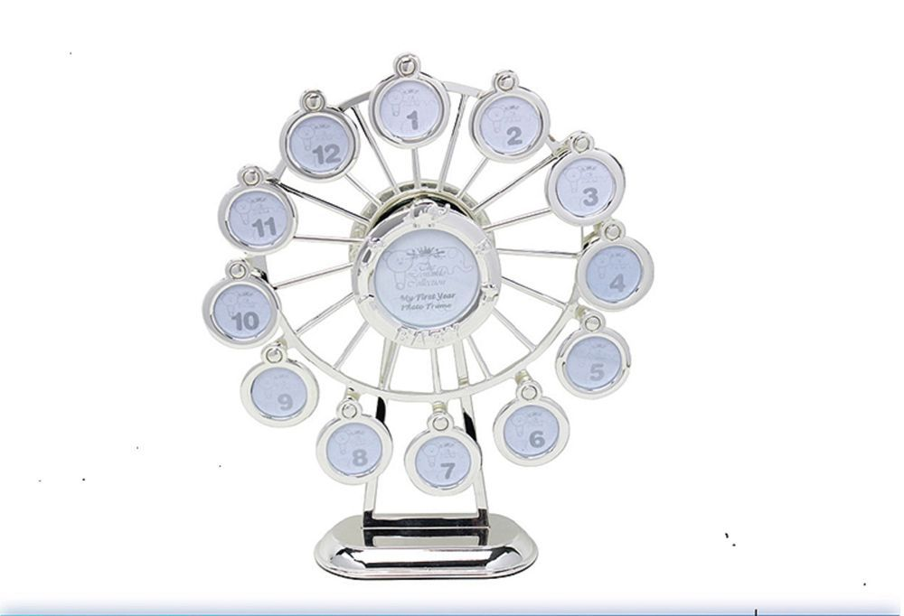 Silver Plated Musical Revolving Ferris Wheel Photo Frame Plays Rock ...