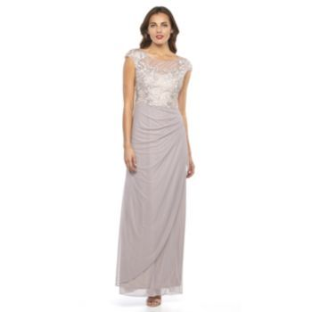 1 by 8 Beaded Pleated Evening Gown - Women's Mauve