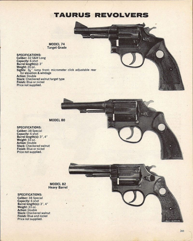 Details about 1978 TAURUS Model 74, 80, 82 Revolver AD