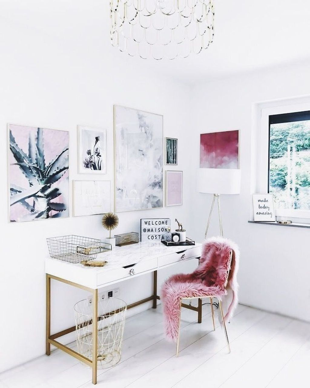 46 great home office design ideas with scandinavian style office rh pinterest com