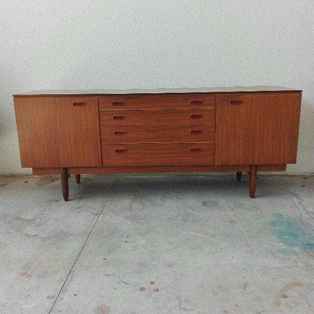 Sideboard danese anni 60 in teak ottime condizioni misure in cm 180x42x75h - Mobili in teak anni 60 ...